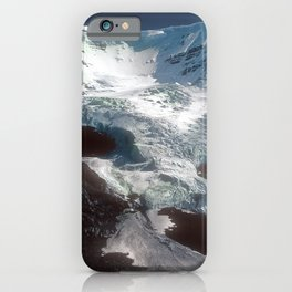 Jaw-dropping Canadian Glacier Cascading Down Mountainside iPhone Case