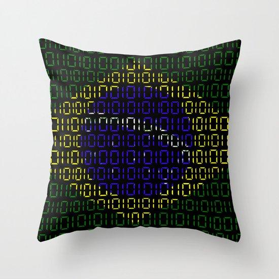 digital Flag (Brazil) Throw Pillow