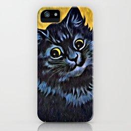 Louis Wain's Cats - Black Cat iPhone Case