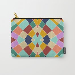 Retro Colored Church Window Pattern Carry-All Pouch