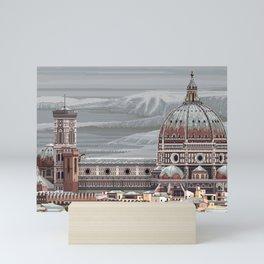 Cathedral Santa Maria del Fiore, pixel art Mini Art Print