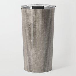 Vintage chic abstract gray geometrical stripes Travel Mug