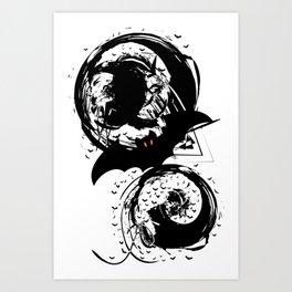 Bats ink splash Art Print