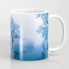 Blue Winter Trees Coffee Mug