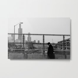 Street Walker Metal Print