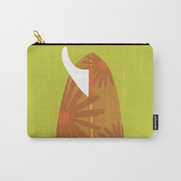 Ready to mingle/ Orange Carry-All Pouch