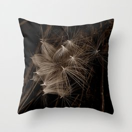 Flock Of Seed Heads Throw Pillow