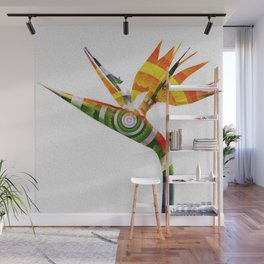 Bird of Paradise Surreal Floral Meditation Wall Mural