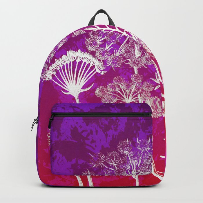 dandelions on purple and pink Backpack