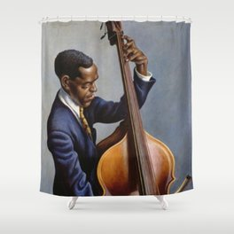 Classical Masterpiece 'Portrait of a Musician' by Thomas Hart Benton Shower Curtain