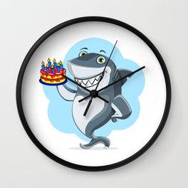 Shark It's My Birthday Funny Shark Gift Wall Clock