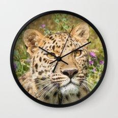 LEOPARD LOVE Wall Clock