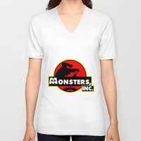 monsters inc V-neck T-shirts featuring Monsters, Inc Logo.  by Gary Wood