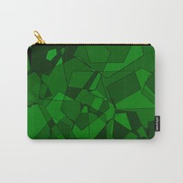 Pentagons Green Carry-All Pouch