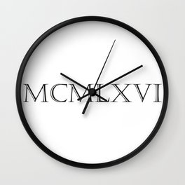Roman Numerals - 1966 Wall Clock