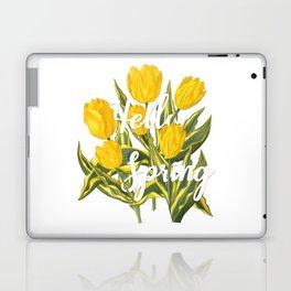 Hello Spring | Yellow tulips Laptop & iPad Skin