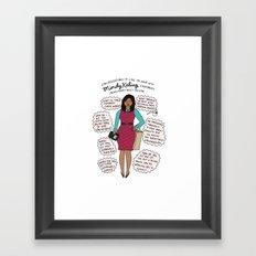 Mindy Kaling the Imaginary Best Friend Framed Art Print