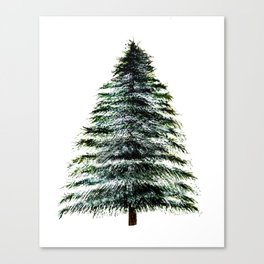 Evergreen Tree Tapestry Canvas Print