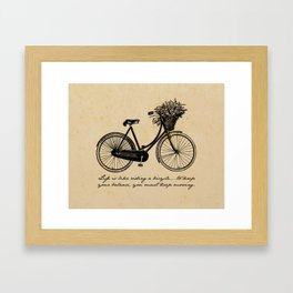 Albert Einstein - Life is Like Riding a Bicycle Framed Art Print