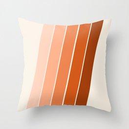 The Skinney - 70's abstract minimal stripe striped pattern retro throwback 1970s art decor Throw Pillow