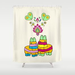 Pinata Love Shower Curtain
