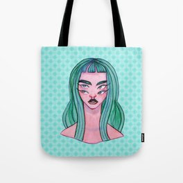 Four Eyed Witch Watercolor Painting Tote Bag
