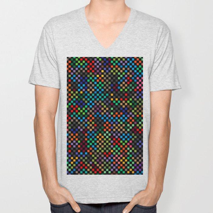 Squares Illusion Unisex V-Neck