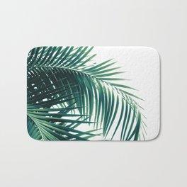 Palm Leaves Green Vibes #6 #tropical #decor #art #society6 Bath Mat