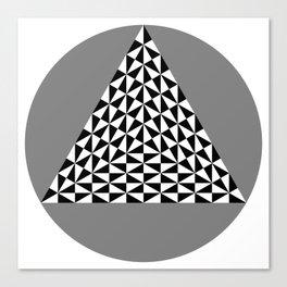 Black and White Puzzle Trigon Canvas Print
