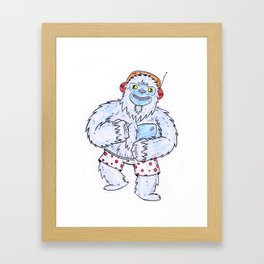 Dancing Yeti Framed Art Print