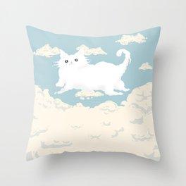 Cat Cloud Throw Pillow