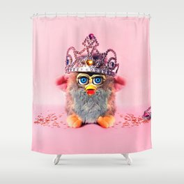 Furby Princess Shower Curtain