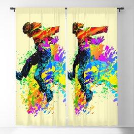 Hip hop dancer, teenager jumping, dancing Blackout Curtain