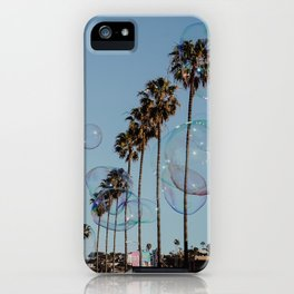 Bubbles & Palm Trees iPhone Case