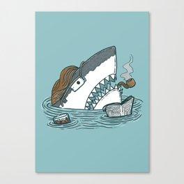 The Dad Shark Canvas Print