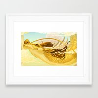 asian Framed Art Prints featuring Asian Dragon by Sunset Dragon