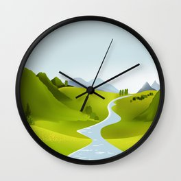 scenery Wall Clock