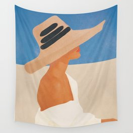 Summer Hat Wall Tapestry