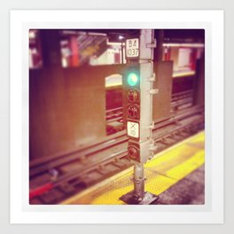 Waiting on the B train... Art Print