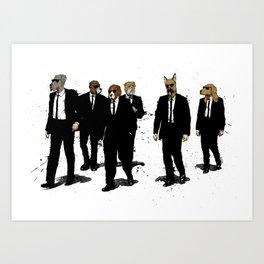 Reservoir Dawgs Art Print
