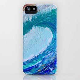 """""""Pacific Wave"""" by Laurie Ann Hunter iPhone Case"""