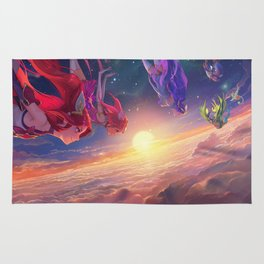 Jinx Janna Lulu Poppy Lux League of Legends Artwork Wallpaper lol Rug