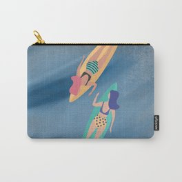 Surf Sisters - Muted Ocean Color Girl Power Carry-All Pouch