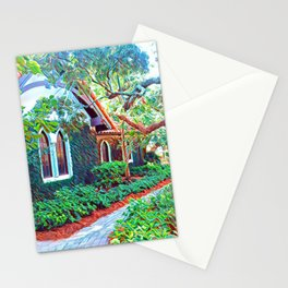 green sanctuary Stationery Cards
