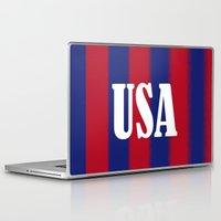 usa Laptop & iPad Skins featuring USA by Caio Trindade