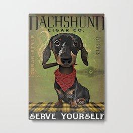 Animals World Dachshund Cigar Metal Print
