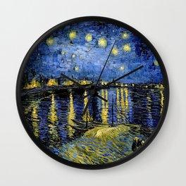 Van Gogh Starry Night Over the Rhône Wall Clock