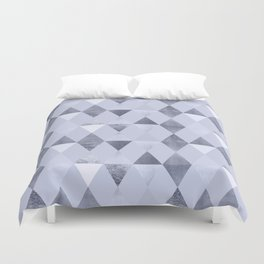 FUNKY PATTERN Triangles | blue Duvet Cover