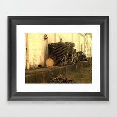 Lonely with Pallets Framed Art Print