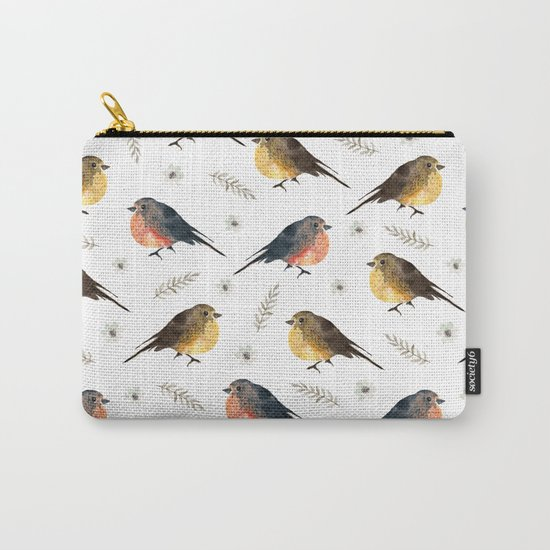 Watercolor birds Carry-All Pouch